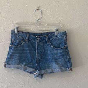 Levi's 501 buttonfly Jean cuff shorts waist 28